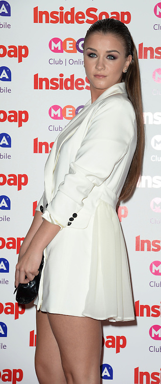 Inside Soap Awards.<br /> Brooke Vincent arrives for the Inside Soap Awards, Ministry of Sound, London, United Kingdom,<br /> Monday, 21st October 2013. Picture by Andrew Parsons / i-Images