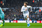 Leeds United forward Patrick Bamford (9) in action during the EFL Sky Bet Championship match between Leeds United and Queens Park Rangers at Elland Road, Leeds, England on 2 November 2019.