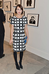 ELLA CATLIFF at a private view of photographs by David Bailey entitled 'Bailey's Stardust' at the National Portrait Gallery, St.Martin's Place, London on 3rd February 2014.