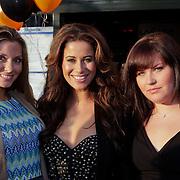NLD/Amsterdam/20110927 - 5 jarig bestaan LAF, Melissa Sneekes en zwangere vriendin