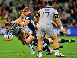 Andre Taylor (HUR).Melbourne Rebels v The Hurricanes.Rugby Union - 2011 Super Rugby.AAMI Park, Melbourne VIC Australia.Friday, 25 March 2011.© Sport the library / Jeff Crow