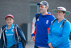 © Licensed to London News Pictures. 29_07_2015. Pictured, England fans arriving at the ground. Cricket fans arriving at Edgbaston cricket  ground for the start of the third test against Australia. Photo credit : Dave Warren/LNP