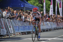 Ashleigh Moolmann-Pasio (RSA) of Cervélo-Bigla Cycling Team wins Stage 5 of the Emakumeen Bira - a 95.2 km road race, starting and finishing in Errenteria on May 21, 2017, in Basque Country, Spain. (Photo by Balint Hamvas/Velofocus)