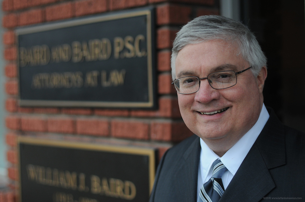 Charles J. Baird of Baird & Baird at 162 Second Street, Pikeville, Ky., photographed Thursday, Feb. 3, 2011 for Kentucky's Best Lawyers. (Photo by Brian Bohannon)