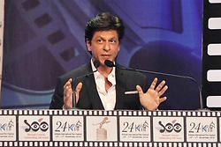 November 10, 2018 - Kolkata, West Bengal, India - Indian actor Shahrukh Khan addresses during the inauguration ceremony of 24th Kolkata International Film Festival. (Credit Image: © Saikat Paul/Pacific Press via ZUMA Wire)