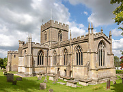 Exterior of the priory church at Edington, Wiltshire, England, UK