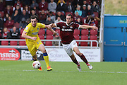 AFC Wimbledon defender Sean Kelly (22) in action during the EFL Sky Bet League 1 match between Northampton Town and AFC Wimbledon at Sixfields Stadium, Northampton, England on 20 August 2016. Photo by Stuart Butcher.