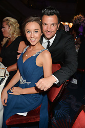 PETER ANDRE and EMILY MACDONAGH at the Caudwell Children's annual Butterfly Ball held at The Grosvenor House Hotel, Park Lane, London on 15th May 2014.