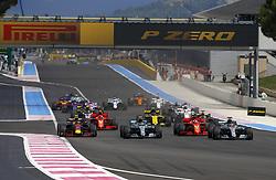 June 24, 2018 - Le Castellet, France - Motorsports: FIA Formula One World Championship 2018, Grand Prix of France, .. Start, #44 Lewis Hamilton (GBR, Mercedes AMG Petronas Motorsport), #5 Sebastian Vettel (GER, Scuderia Ferrari), #77 Valtteri Bottas (FIN, Mercedes AMG Petronas Motorsport), #33 Max Verstappen (NLD, Aston Martin Red Bull Racing), #3 Daniel Ricciardo (AUS, Aston Martin Red Bull Racing) (Credit Image: © Hoch Zwei via ZUMA Wire)