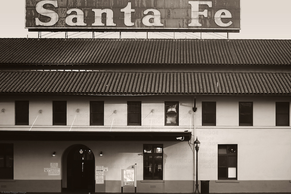 The entrance of the Santa Fe Station built in Spanish Colonial style on December 25, 2015 in San Diego.