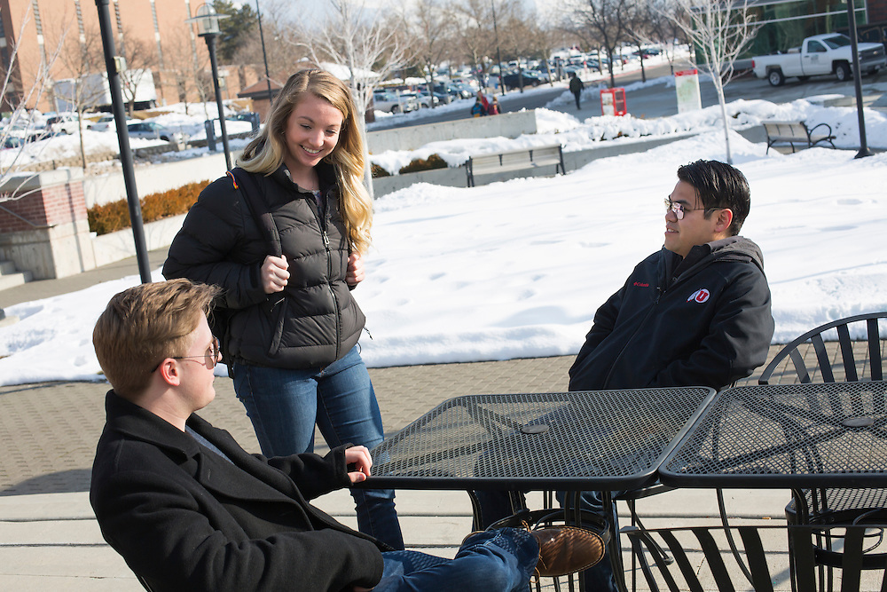 University of Utah Marketing and Communications Lifestyle photo shoot on the campus of The University of Utah in Salt Lake City, Utah Wednesday Jan. 27, 2016. (August Miller)