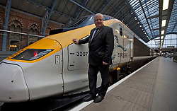 © Licensed to London News Pictures. 14/11/2012. London, U.K..Transport Secretary Patrick McLoughlin  joins Eurostar's 18th Birthday celebrations on the eurostar platform at St. Pancras station, today 14/11/2012..Photo credit : Rich Bowen/LNP