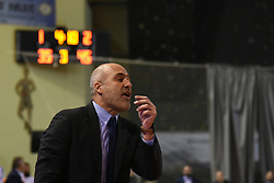 December 9, 2018 - Chalkida, Greece - Aris Lykogiannis, headcoach of Cholargos, reacts during Basketball Championship match between GS Kymis and Holargos in Tasos Kampouris Gymn in Chalkida, Greece on December 9, 2018. (Credit Image: © Wassilios Aswestopoulos/NurPhoto via ZUMA Press)