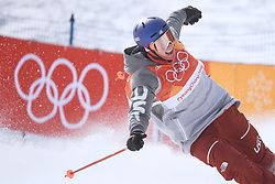 PYEONGCHANG, Feb. 18, 2018  Nick Goepper of the United States competes during the men's ski slopestyle of freestyle skiing at the 2018 PyeongChang Winter Olympic Games, at Phoenix Snow Park, South Korea, on Feb. 18, 2018. Nick Goepper won the silver medal with 93.60 points. (Credit Image: © Lui Siu Wai/Xinhua via ZUMA Wire)