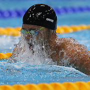 Kosuke Kitajima, Japan, in action during the Men's 100m Breaststroke  heats during the swimming heats at the Aquatic Centre at Olympic Park, Stratford during the London 2012 Olympic games. London, UK. 28th July 2012. Photo Tim Clayton