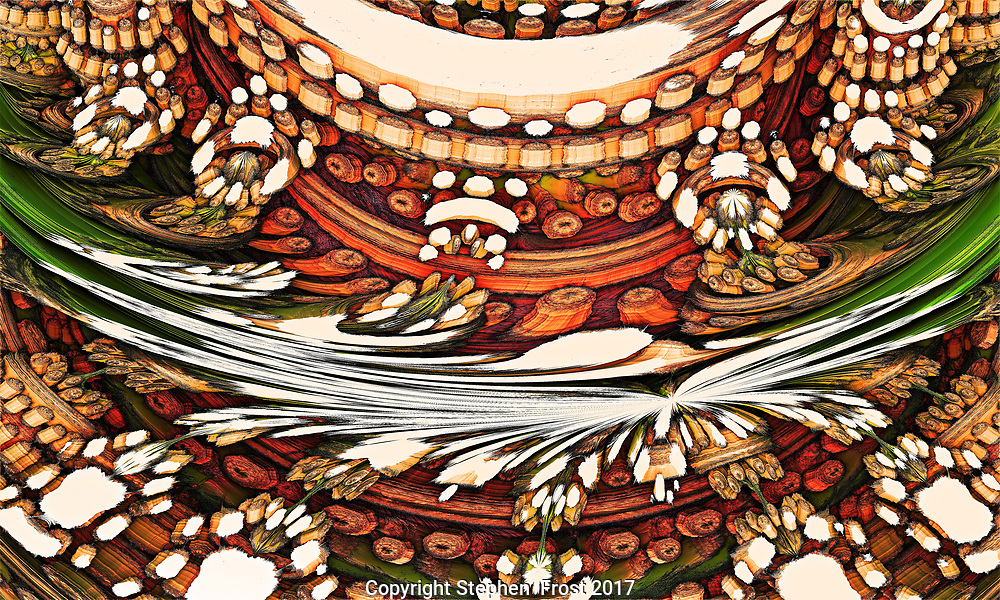 A rustic pattern suggesting harvest. This is a digital image based on fractals.