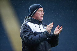 Falkirk's manager Peter Houston. <br /> Falkirk 1 v 0 Dumbarton, Scottish Championship game played 26/12/2015 at The Falkirk Stadium.