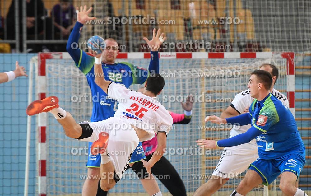 Nemanja Zelenovic of Serbia during friendly handball match between Slovenia and Srbija, on October 27th, 2019 in Športna dvorana Lukna, Maribor, Slovenia. Photo by Milos Vujinovic / Sportida