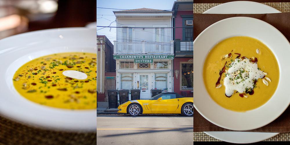 client: Monarch Restaurant, St. Louis, MO (left), NPR's Music Inside Out With Gwen Thompkins (center), Araka Restaurant, St. Louis, MO (right)