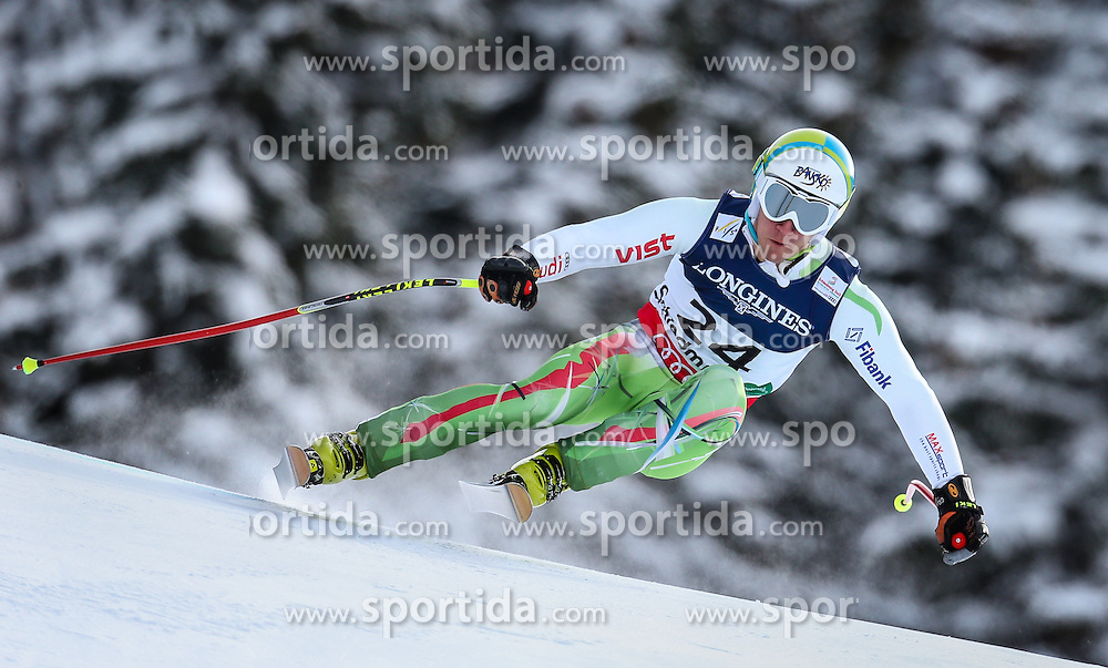 11.02.2013, Planai, Schladming, AUT, FIS Weltmeisterschaften Ski Alpin, Super Kombination, Abfahrt, Herren, im Bild  Nikola Chongarov (BUL) // Nikola Chongarov of Bulgaria  in action during Mens Super Combined Downhill at the FIS Ski World Championships 2013 at the Planai Course, Schladming, Austria on 2013/02/11. EXPA Pictures © 2013, PhotoCredit: EXPA/ Johann Groder
