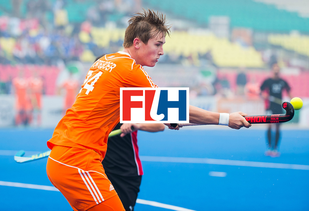 LUCKNOW (India) -   Junior World Cup hockey  U21 for men .  NETHERLANDS v EGYPT . Floris Wortelboer (NED)  COPYRIGHT  KOEN SUYK