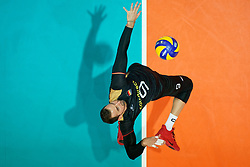 23-09-2019 NED: EC Volleyball 2019 Poland - Germany, Apeldoorn<br /> 1/4 final EC Volleyball Poland win 3-0 / György Grozer #9 of Germany