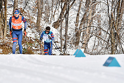 DUBOIS Thomas FRA B1 Guide: SAUVAGE Bastien competing in the ParaSkiDeFond, Para Nordic 10km during the PyeongChang2018 Winter Paralympic Games, South Korea.