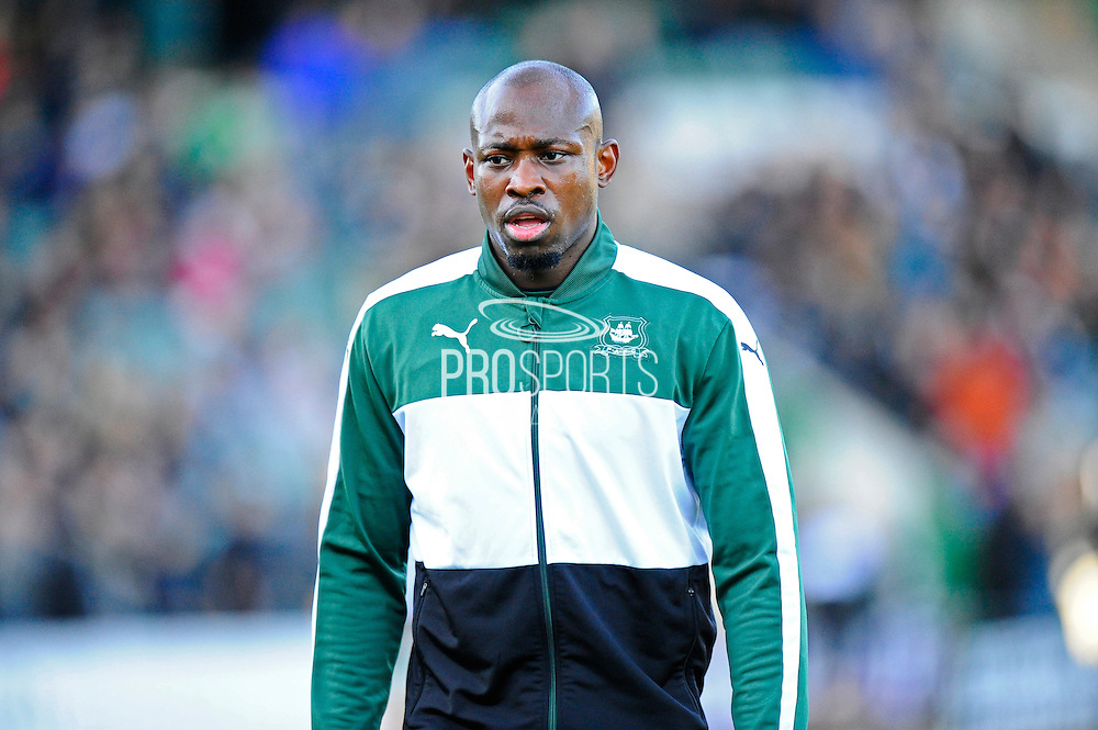 Paul-Arnold Garita (26) of Plymouth Argyle warming up before the EFL Sky Bet League 2 match between Plymouth Argyle and Wycombe Wanderers at Home Park, Plymouth, England on 26 December 2016. Photo by Graham Hunt.