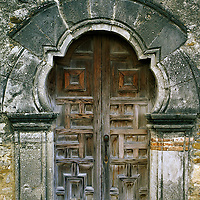 Mission San Jose, San Antonio Missions National Park, Texas. Founded in 1720 by Spanish Franciscan missionaries.