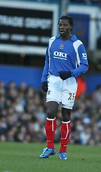 PORTSMOUTH, ENGLAND - SATURDAY, DECEMBER 9th, 2006: Benjani of Portsmouth during the Premiership match at Fratton Park. (Pic by Chris Ratcliffe/Propaganda)