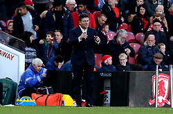 Watford manager Walter Mazzarri looks animated during the win at Middlesbrough - Mandatory by-line: Robbie Stephenson/JMP - 16/10/2016 - FOOTBALL - Riverside Stadium - Middlesbrough, England - Middlesbrough v Watford - Premier League