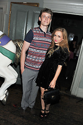 GLEN HUGHES and SOPHIE MORTON at a carnival themed party hosted by Stacey Bendet for the Alice & Olivia fashion label at Paradise, Kensal Green, London on 9th November 2011