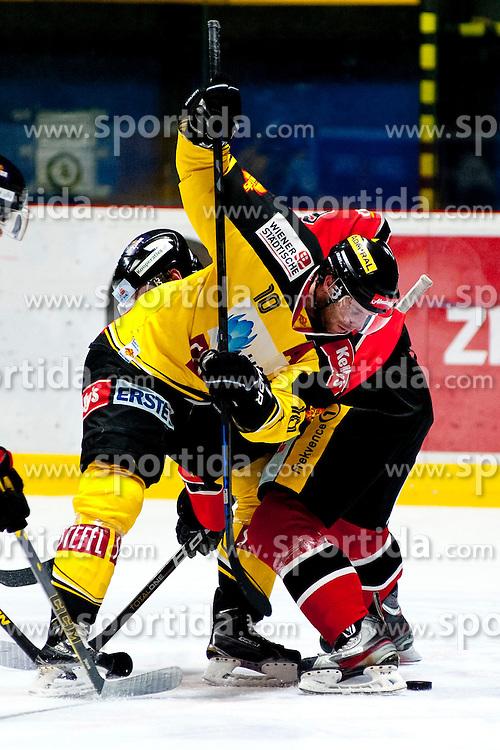 18.01.2015, Ice Rink, Znojmo, CZE, EBEL, HC Orli Znojmo vs UPC Vienna Capitals, 40. Runde, im Bild v.l. Matt Watkins (UPC Vienna Capitals) // during the Erste Bank Icehockey League 40th round match between HC Orli Znojmo and UPC Vienna Capitals at the Ice Rink in Znojmo, Czech Republic on 2015/01/18. EXPA Pictures © 2015, PhotoCredit: EXPA/ Rostislav Pfeffer
