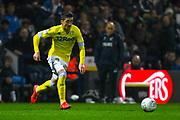 Pablo Hernandez of Leeds United (19) in action during the EFL Sky Bet Championship match between Preston North End and Leeds United at Deepdale, Preston, England on 9 April 2019.