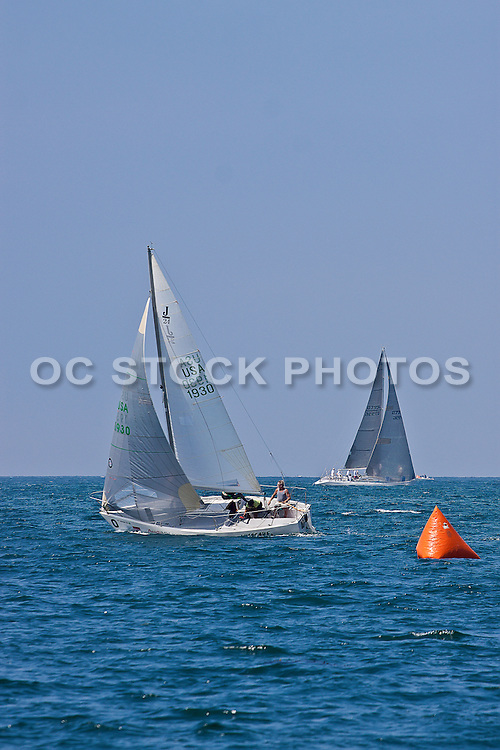 Sailing Off The Coast Of Dana Point Orange County California