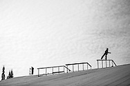 Snowboard Slopestyle Practice during 2015 X Games Aspen at Buttermilk Mountain in Aspen, CO. ©Brett Wilhelm/ESPN