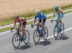 08.07.2016, Stegersbach, AUT, Ö-Tour, Österreich Radrundfahrt, 6. Etappe, Graz nach Stegersbach, im Bild v.l. Nick Van Der Lijke (NED, Roompot Oranje Peloton), Evgeny Shalunov (RUS, Gazprom - Rusvelo), Alessandro Vanotti (ITA, Astana Pro Team) // during the Tour of Austria, 6th Stage from Gratz to Stegersbach, Austria on 2016/07/08. EXPA Pictures © 2016, PhotoCredit: EXPA/ Reinhard Eisenbauer