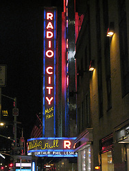 Radio City Music Hall Marquee, New York City, Before the Furthur Concert on 24 February 2010