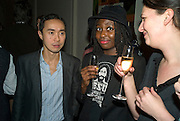 TASH AW AND HELEN OYEYEMI, party to celebrate the 100th issue of Granta magazine ( guest edited by William Boyd.) hosted by Sigrid Rausing and Eric Abraham. Twentieth Century Theatre. Westbourne Gro. London.W11  15 January 2008. -DO NOT ARCHIVE-© Copyright Photograph by Dafydd Jones. 248 Clapham Rd. London SW9 0PZ. Tel 0207 820 0771. www.dafjones.com.
