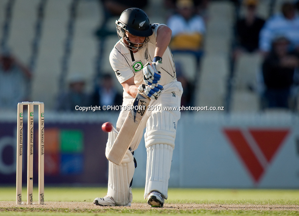 BJ Watling bats during day one of the 2nd cricket test match between NZ Black Caps and Australia, at Seddon Park, Hamilton, 27 March 2010. Photo: Stephen Barker/PHOTOSPORT