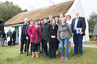 28/03/2016 Foireann RnaG Pictured at Pearse's Cottage, Teach an Phiarsaigh, in Rosmuc in Connemara during a special broadcast of RT&Eacute; Raidi&oacute; na Gaeltachta programme Adhmhaidin on Easter Monday 28 March 2016.  <br /> <br /> Patrick Pearse used the cottage as a summer house, and also as summer school for his pupils from St Enda&rsquo;s school in Dublin.  He was inspired by the people and the culture of the area, and it is said that he composed the graveside oration he gave at O&rsquo;Donovan Rossa&rsquo;s funeral in 1915 there.<br /> <br /> The broadcast was to commemorate the centenary of the Easter Rising, and also marked 30 years on air for the programme.  <br /> Photo:Andrew Downes, xposure.