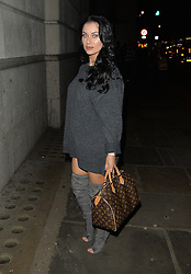 Pregnant Cally Jane Beech out in Mayfair, London, UK. 04/12/2106<br />