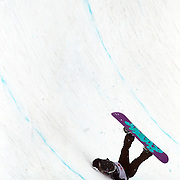 Hannah Trigger, Australia, falls badly off the lip of the half pipe, injuring herself and requiring medical treatment during the Women's Half Pipe Qualification in the LG Snowboard FIS World Cup, during the Winter Games at Cardrona, Wanaka, New Zealand, 27th August 2011. Photo Tim Clayton...