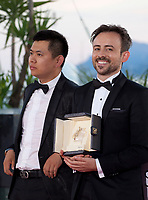 Director Wei Shujun (Jury mention for On the Border) and Charles Williams, winner of the Palme d'Or for Short Film: All These Creatures at the Award Winner's photo call at the 71st Cannes Film Festival, Saturday 19th May 2018, Cannes, France. Photo credit: Doreen Kennedy