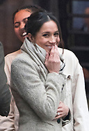 09.01.2018; London, England: MEGHAN MARKLE AND PRINCE HARRY VISIT BRIXTON<br /> The newly engaged royal couple visited Reprezent 107.3FM in Brixton, to see their work supporting young people through creative training in radio and broadcasting, and to learn more about their model of using music, radio and media for social impact.<br /> This is Meghan and Harry&iacute;s first official visit in the capital.<br /> They are to be married on 19th May 2018 at Windsor Castle.<br /> Mandatory Photo Credit: &copy;Francis Dias/NEWSPIX INTERNATIONAL<br /> <br /> IMMEDIATE CONFIRMATION OF USAGE REQUIRED:<br /> Newspix International, 31 Chinnery Hill, Bishop's Stortford, ENGLAND CM23 3PS<br /> Tel:+441279 324672  ; Fax: +441279656877<br /> Mobile:  07775681153<br /> e-mail: info@newspixinternational.co.uk<br /> Usage Implies Acceptance of Our Terms &amp; Conditions<br /> Please refer to usage terms. All Fees Payable To Newspix International