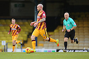 Bradford City midfielder Nicky Law (4) dribbling and on the attack during the EFL Sky Bet League 1 match between Southend United and Bradford City at Roots Hall, Southend, England on 19 November 2016. Photo by Matthew Redman.