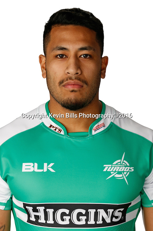 Valentino Mapapalangi.<br /> Headshots of the Manawatu Tubos rugby team to compete in the 2016 season of the Mitre 10 Cup Premiership.<br /> Photo credit: www.manawaturugby.co.nz