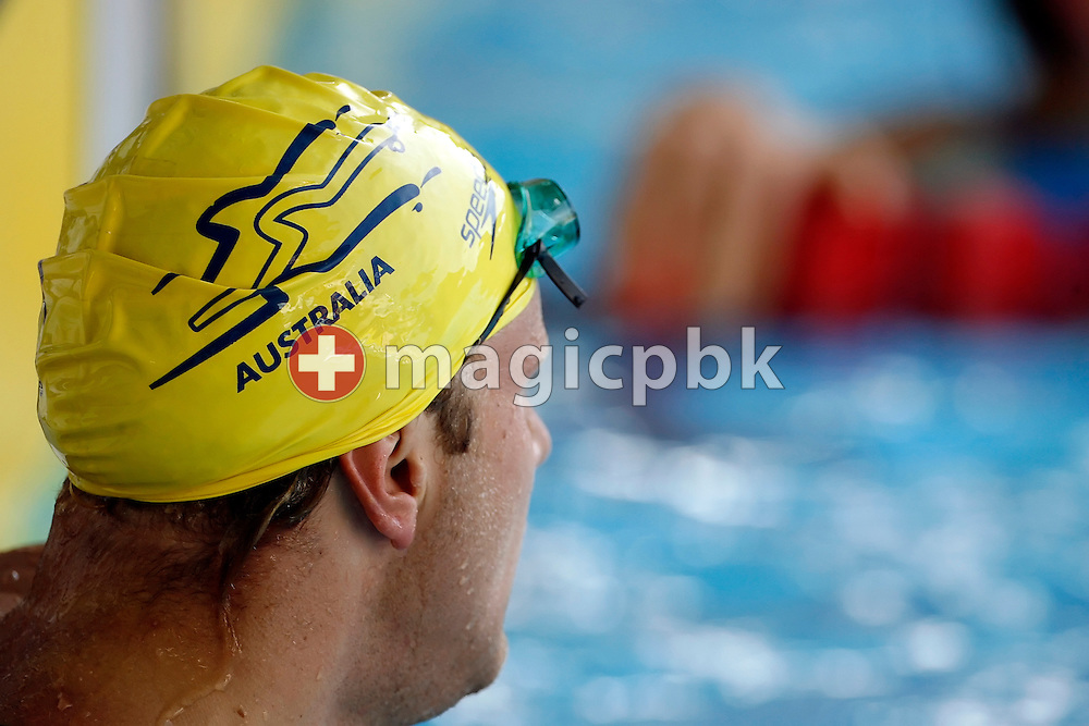 Andrew LAUTERSTEIN of Australia reacts after competing in the men's 100m freestyle final on day 2 at the 28th International Swimming Meet (50m) held at Piscina Pere Serrat in Barcelona, Spain, Thursday, June 14, 2007. (Photo by Patrick B. Kraemer / MAGICPBK)