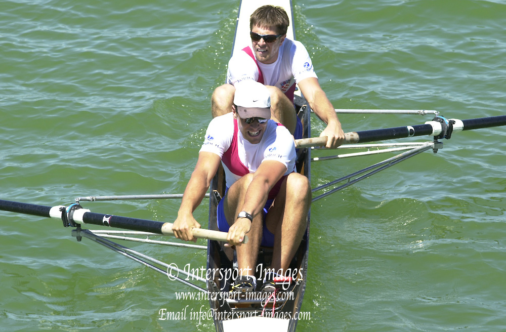 Peter Spurrier Sports  Photo.email pictures@rowingpics.com.Tel 44 (0) 7973 819 551.Tel/Fax 44 (0) 1784 440 772..CRO M2-.Sinisa and Niksa (S) Skelin. 20010515 FISA World Cup, Seville, SPAIN