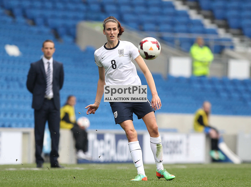 England's Jill Scott during the FIFA Women's World Cup qualifier match between England and Montenegro at the American Express Community Stadium, Brighton, 5th April 2014 © Phil Duncan | SportPix.org.uk